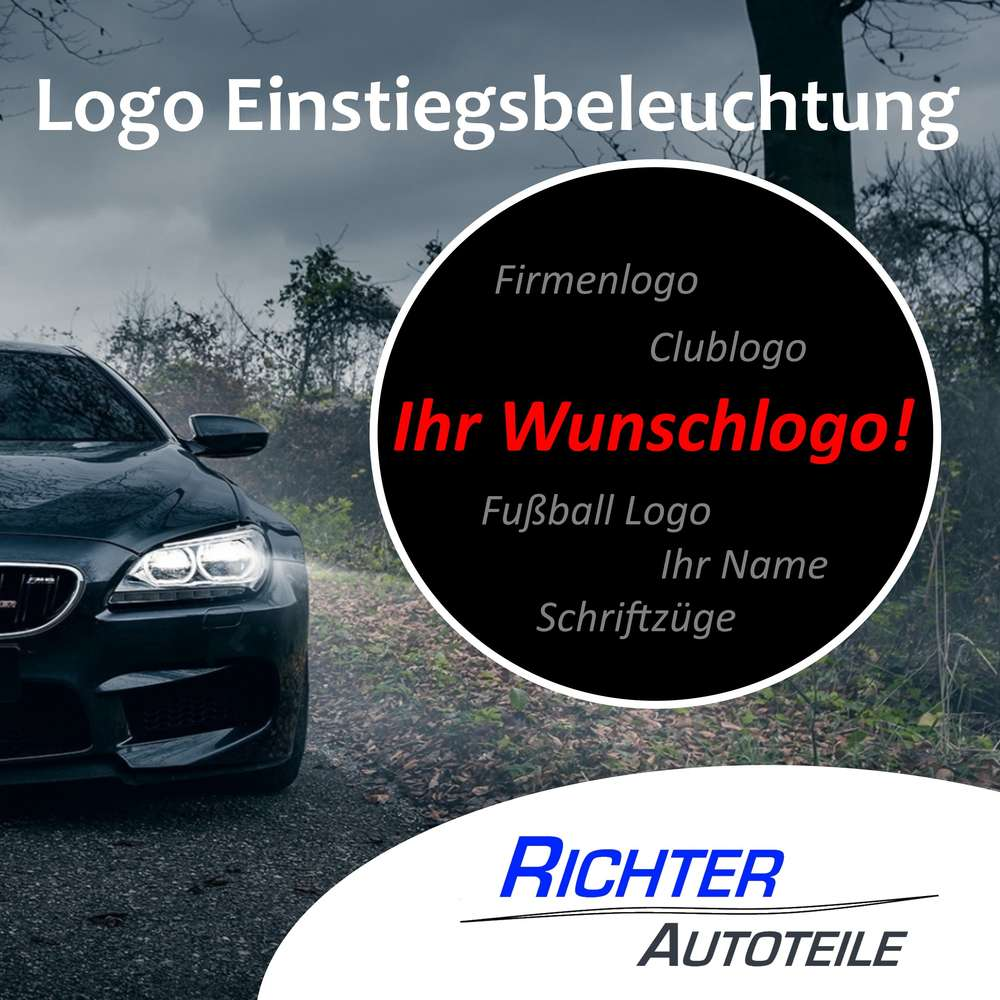 Türbeleuchtung Wunschlogo zum bohren - Richer Autoteile